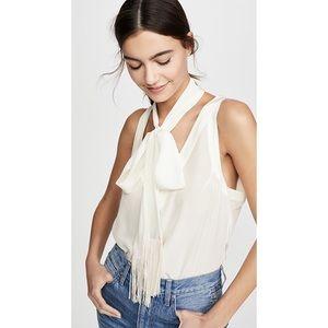 Equipment 100% silk Aylee Scarf detail blouse